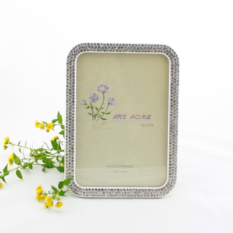 rhinestone picture frames wholesaler5x7silver plating