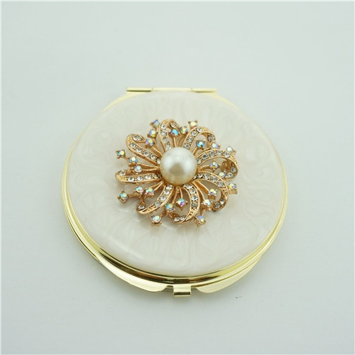 Jewelled Enamel Compact Mirror/Cosmetic Mirror
