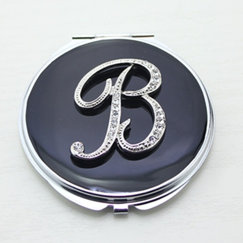 Monogram Compact Mirror/Letter B