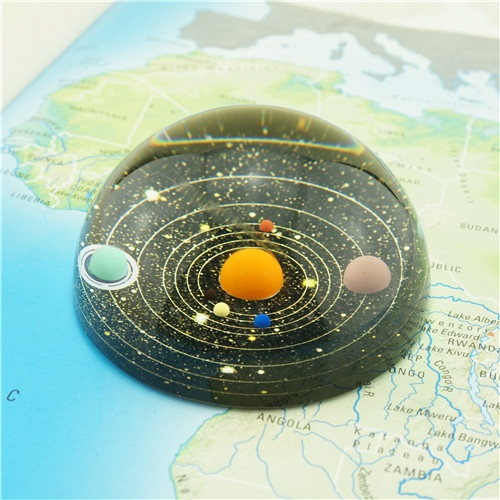 Glass Hemisphere Planetary Paperweight/Best-selling Gifts