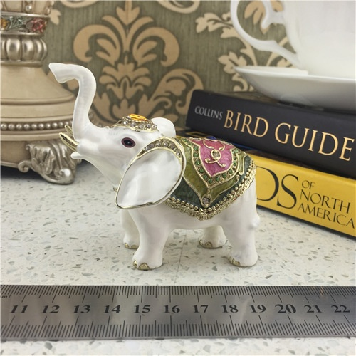 Imitation Ceramic Jewelry Box/ Elephant Jewel Box