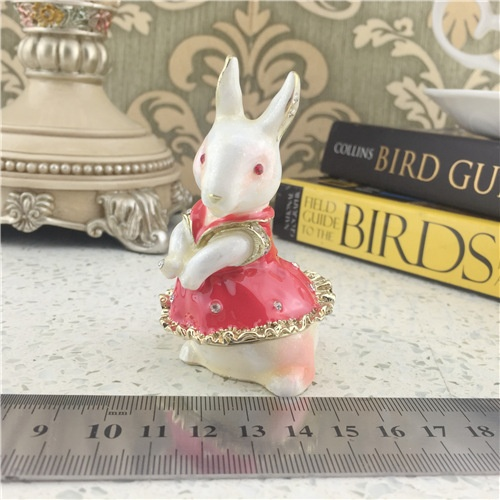 Imitation Ceramic Jewelry Box/Pink Rabbit Jewel Box