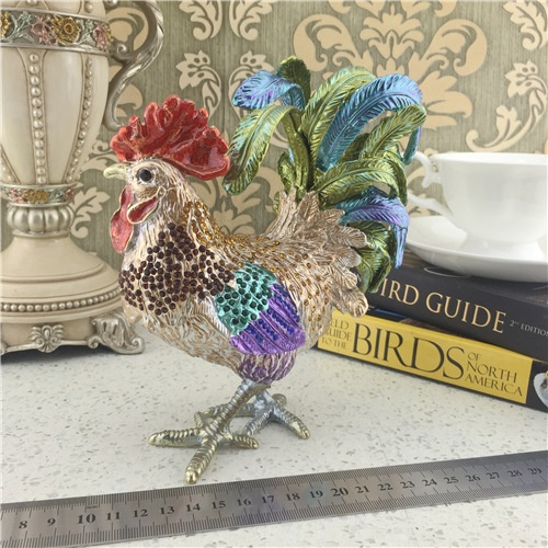 Animal Series Jewelry Box/Metal Cock Jewel Box