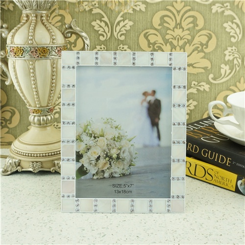 Fashion home photo frame/zinc alloy diamond photo frame