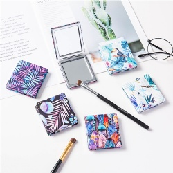 Square PU compact mirror/Tropical compact mirror