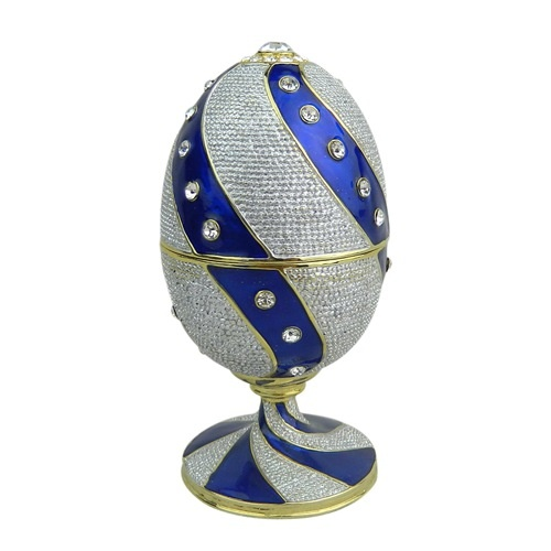 Easter egg trinket Box/Pewter jewelry box
