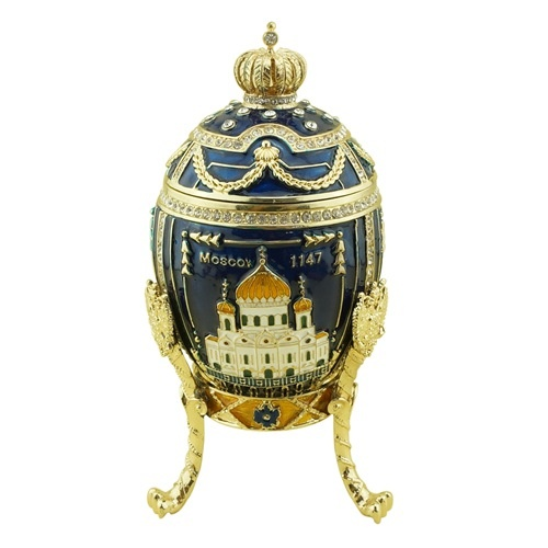 Trinket jewel box moscow kremlin/Faberge egg