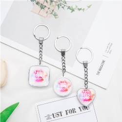Inspirational Gifts Crystal Glass Key Chain/Custom Logo Key Chain